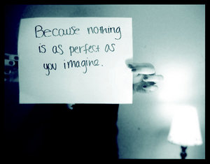 Because Nothing Is As Perfect As You Imagine